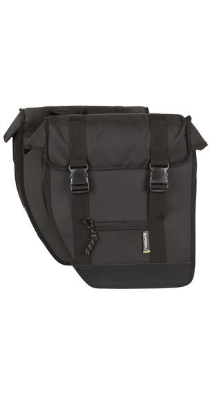 Basil Tour Doppeltasche XL schwarz